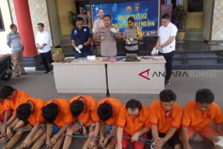 Polresta Palembang amankan 17 tersangka pencurian