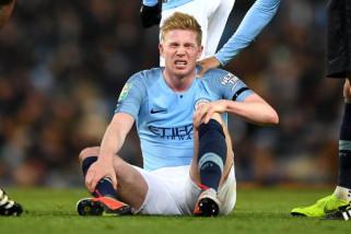 De Bruyne absen sebulan akibat cedera lutut