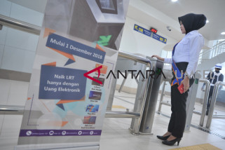 Pemberlakuan pembayaran nontunai LRT Palembang