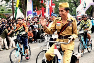 Jokowi yakin anak muda tidak takut politik